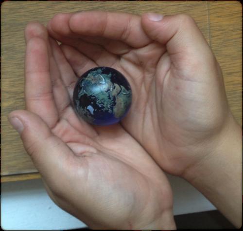 earth marble globe